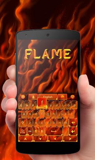 Flame GO Keyboard Theme Emoji
