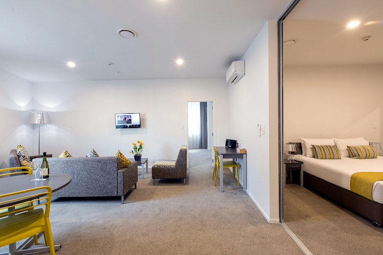 living space at Quest on Thorndon