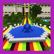 New High School Colorful Edition. Map for MCPE