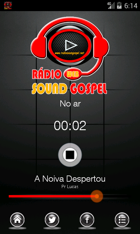 Rádio Sound Gospel- screenshot