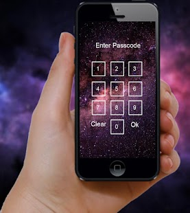 AppLock Theme - Galaxy - náhled