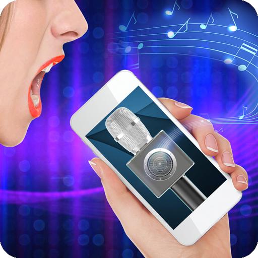 Karaoke Microphone Speaker Simulator Icon