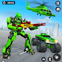 US Army Monster Truck Transform Robot Shooting icon