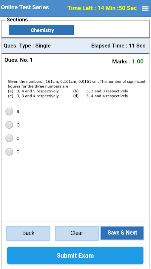 IIT JEE NEET Online Mock Test- screenshot