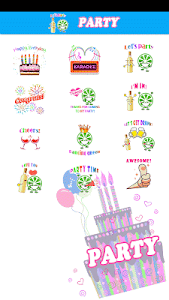 Party Sticker GIF Free screenshot 4
