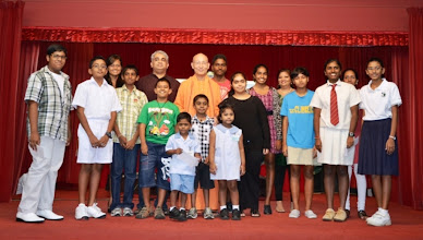 Photo: The award receipients together with Swamiji and Mr Giri, the TAPAS President.