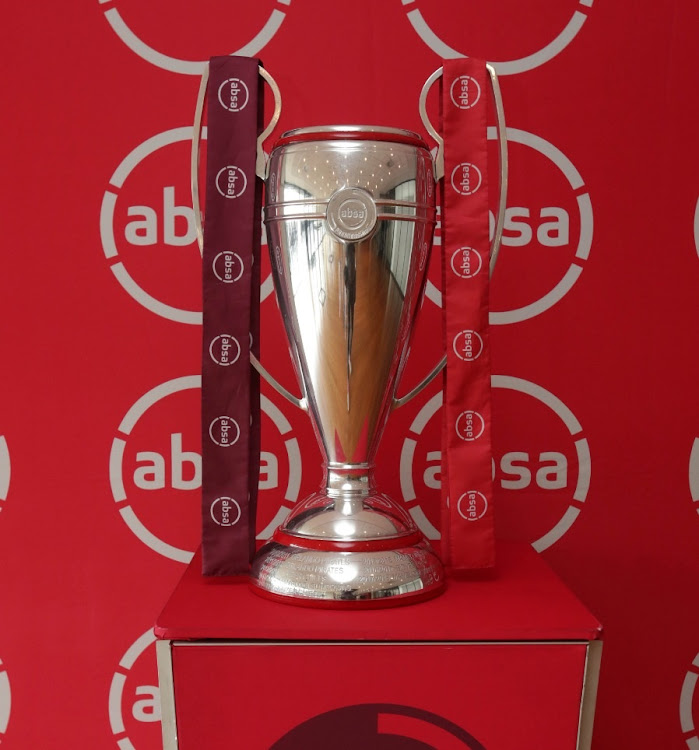 The Absa premiership trophy.