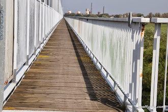 Photo: Very long rail bridge with cyclewat tagged on