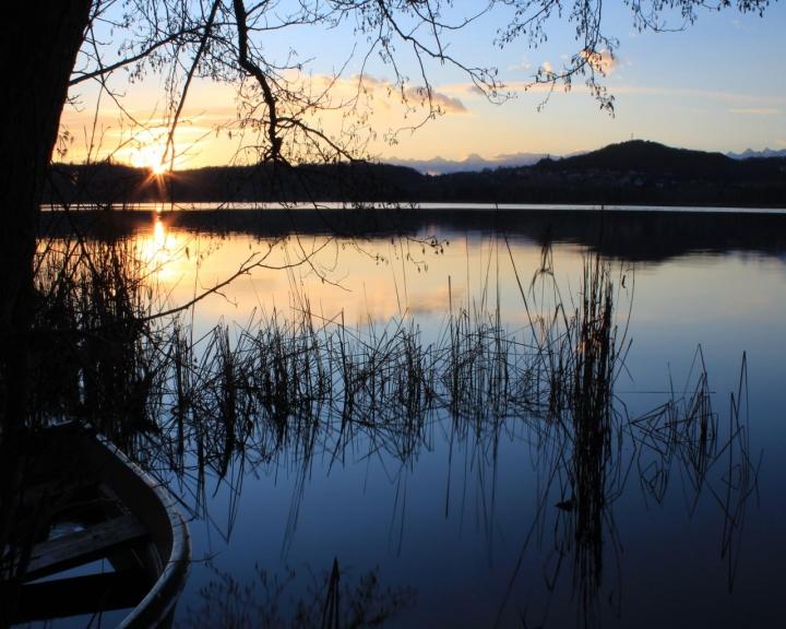 Tramonto sul  lago di Candia di Fabrizio