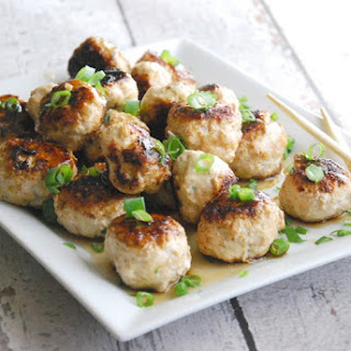 Paleo Asian Chicken Meatballs with Teriyaki Glaze