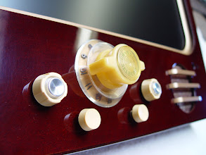 Photo: Finally I figured out the perfect layout for the knobs and what to do over the speaker holes.