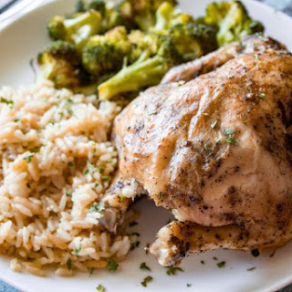 Slow Cooker Roasted Cornish Game Hen.