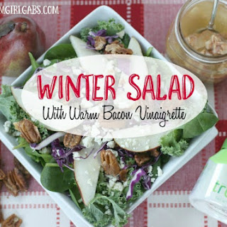 Winter Salad with Candied Pecans, Pears and Warm Bacon Vinaigrette Recipe