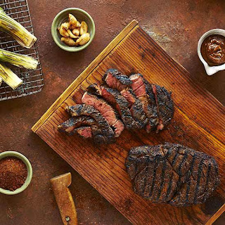 Espresso Grilled Rib-Eye with Coffee Butter