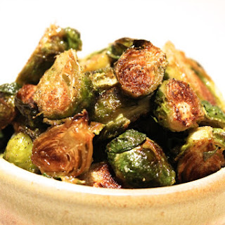 Honey Dijon Roasted Brussel Sprouts.