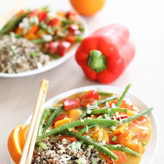 Orange Stir Fry with Pumpkin, Green Beans and Sweet Pepper Recipe
