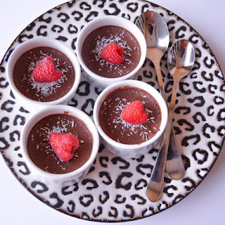 Rich Chocolate Raspberry Pudding.
