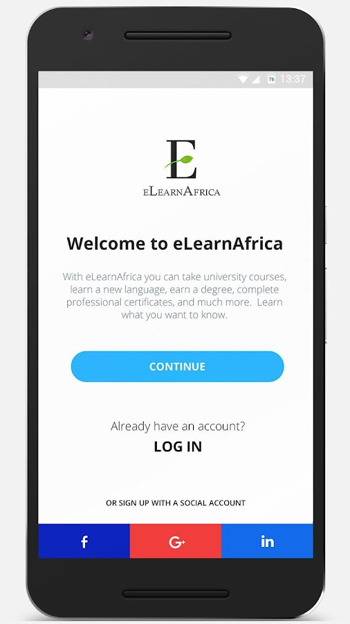 eLearnAfrica- screenshot