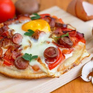 Homemade Breakfast Pizza.