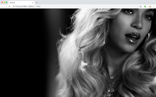 Beyonce New Tab Page HD Hot Singer Theme