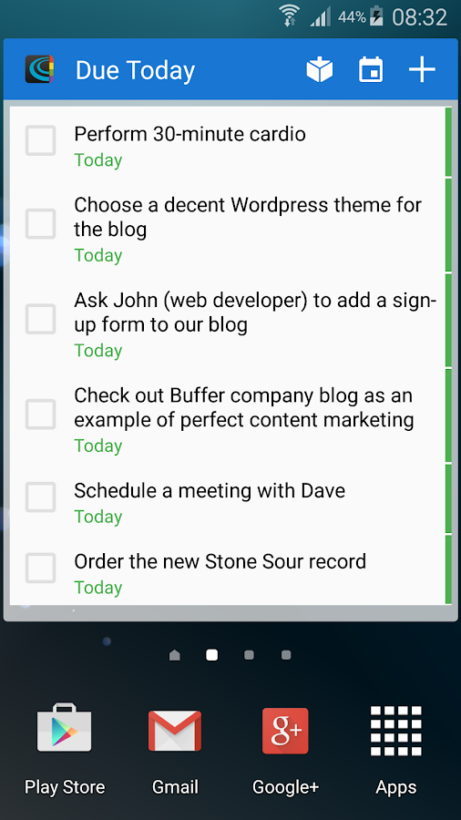 Chaos Control - GTD To-Do List- screenshot