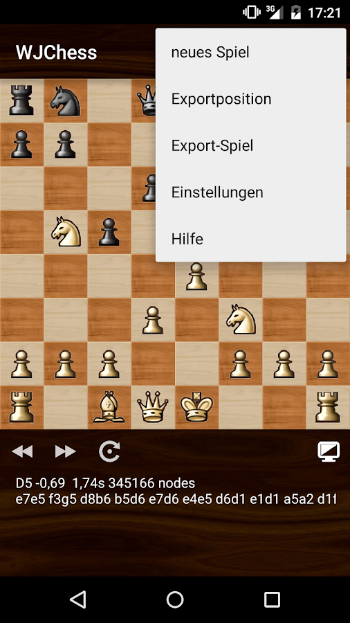 WJChess (Schachspiel) – Screenshot