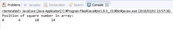 Java - Liệt kê các vị trí mà giá trị tại đó là số chính phương trong mảng 1 chiều số nguyên