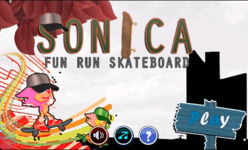 Sonica Fun Run Skateboard FREE