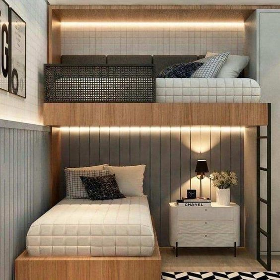 Staggered Bunk Bed Ideas