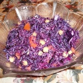 Red Cabbage and Chickpea Salad.