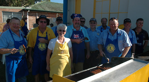 The Lions Club of Narrabri was busy at the barbecue providing a legendary breakfast, Vince Haire, Ross Campbell, Lesley Tepper, Fred Shepherdson (partly obscured), Craig Jollow, Darrel Anderson, Alan Tepper, Wayne Dornbusch, Dean Hancock, Tim Tapscott and James Brown