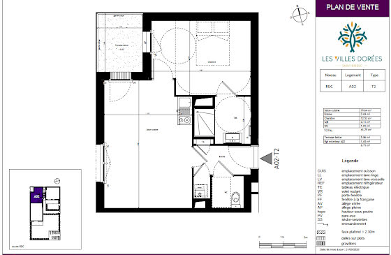 Vente appartement 2 pièces 41,79 m2
