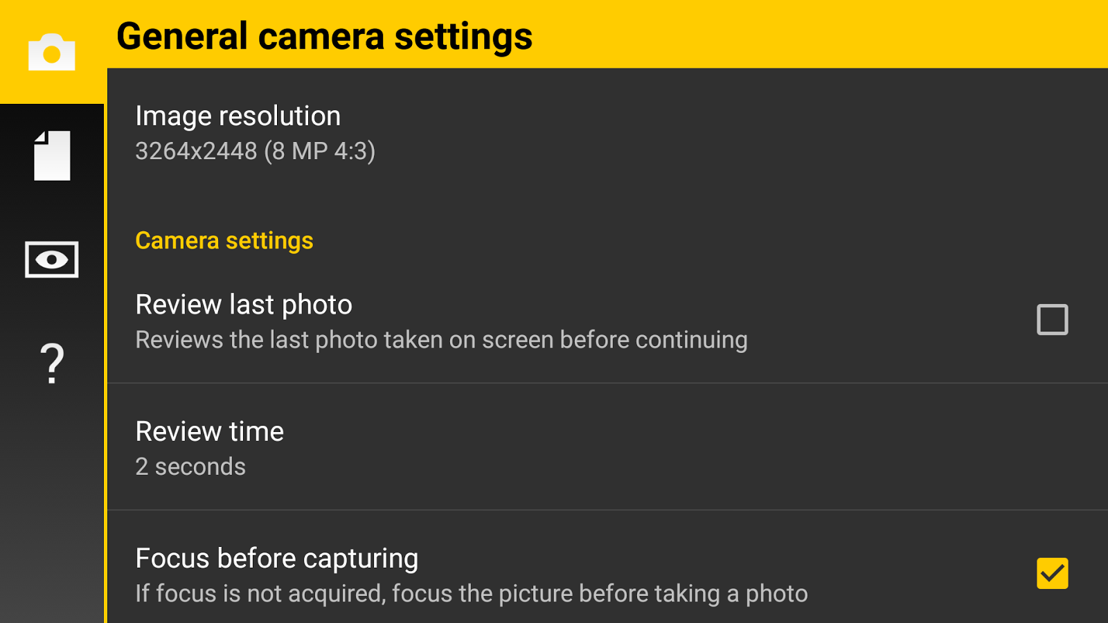 Camera FV-5 Lite - screenshot