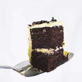 Chocolate Keto Birthday Cake with Vanilla Buttercream.