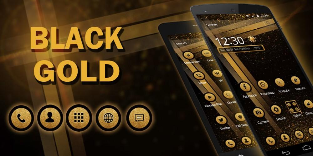 Cool Black Gold Biz Tema- screenshot