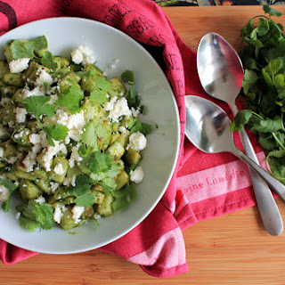 Roasted Chayote Salad with Green Chile Dressing.