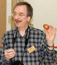 Photo: Gary Guenther shows off his skew challenge egg.