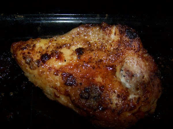 Place chicken in baking dish and bake uncovered 35 minutes. Turn chicken over and...