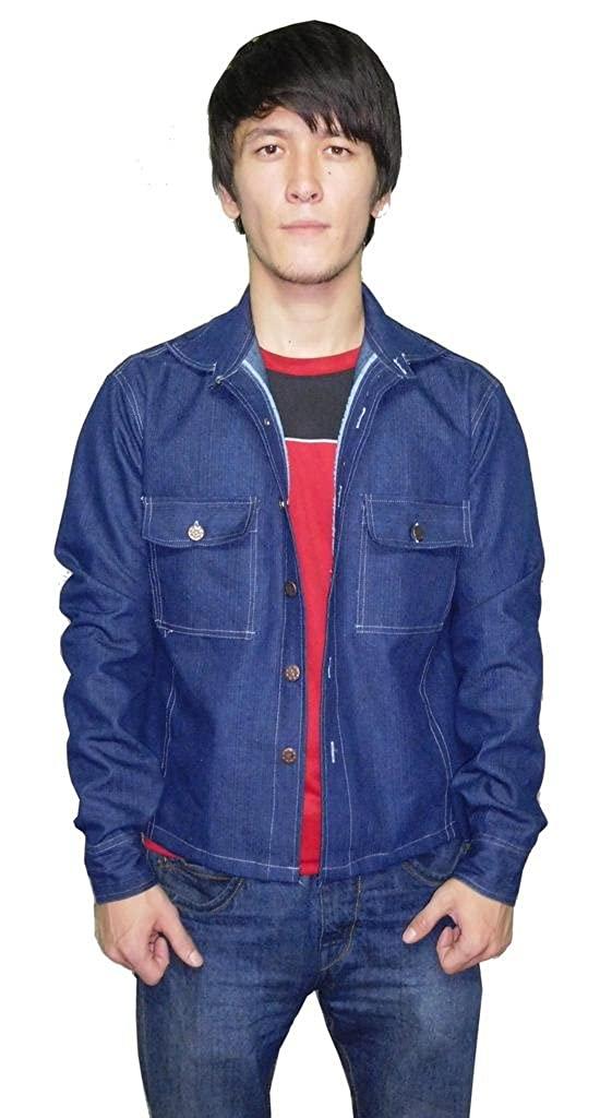 Pluto Dark Blue Denim Jacket For Men