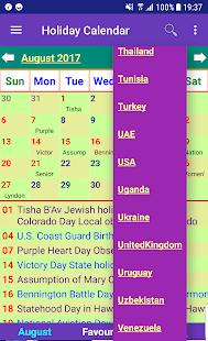 Holiday Calendar Free - náhled