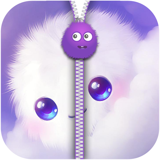 Fluffy Zipper Screen Lock