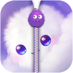 Fluffy Zipper Screen Lock Icon