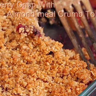 Mixed Berry Crisp with Almond meal Crumb topping | Gluten free Crisp