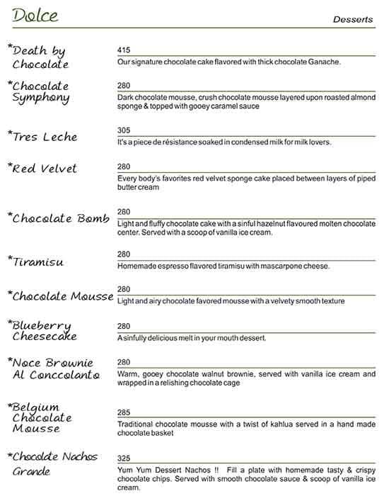 Quesso Ristorante menu 11