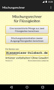 Rechner Mischung Flüssigkeiten screenshot 0