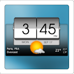 3D Flip Clock & Weather Icon