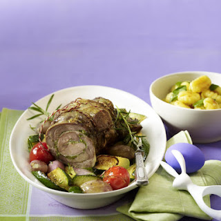 Roasted Lamb with Vegetables and Gnocchi