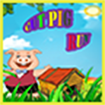 Cute Pig Run Icon