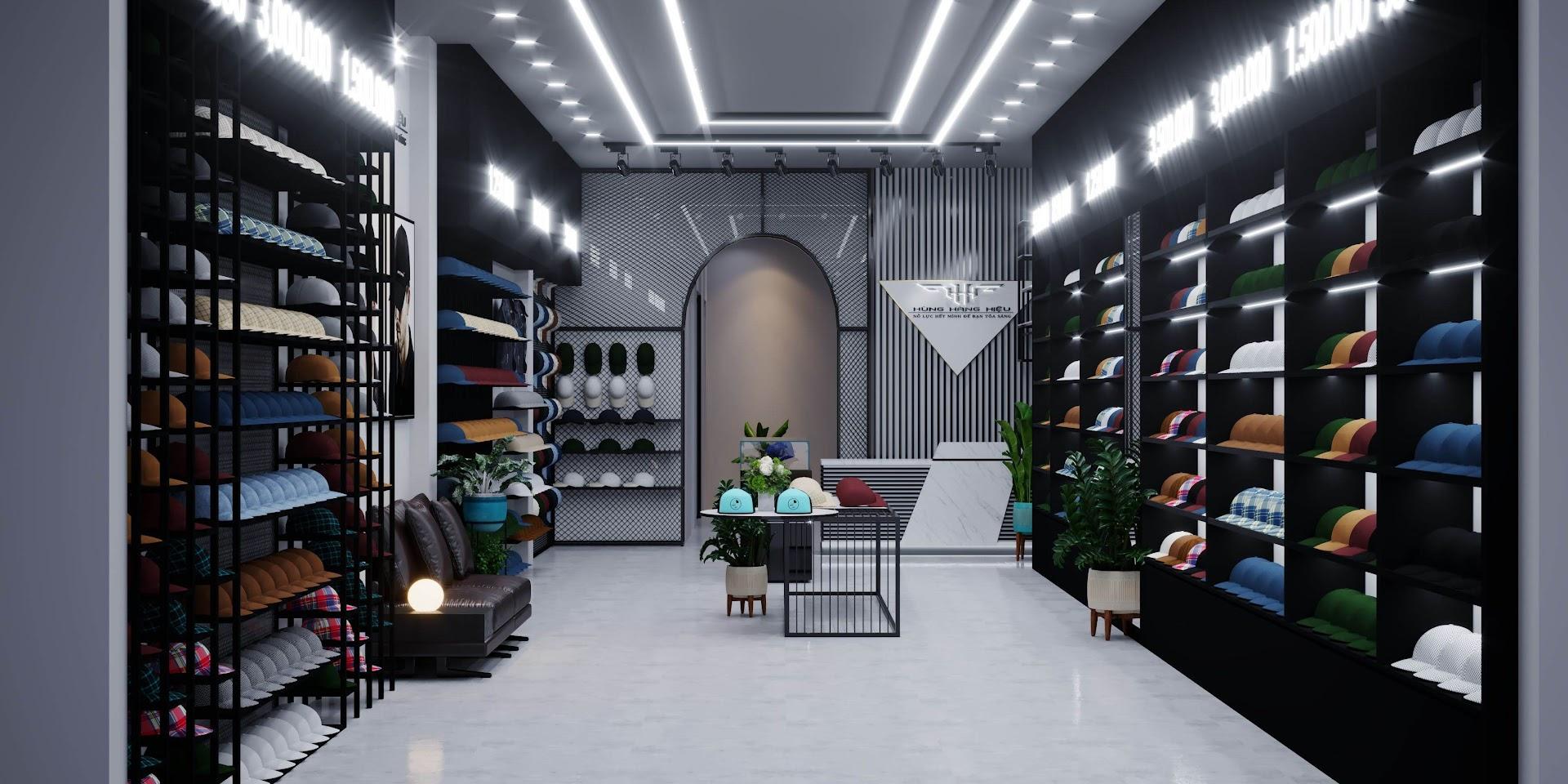 thiết kế shop nón sơn