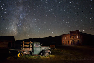 Photo: Old truck in Bodie, captured during our night photography workshop August 30, 2014.